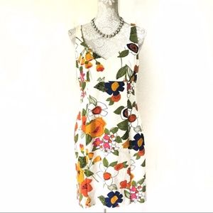 Trina Turk // White Floral Print Sheath Dress 8